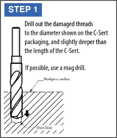 C-Sert Installation Instructions step 1