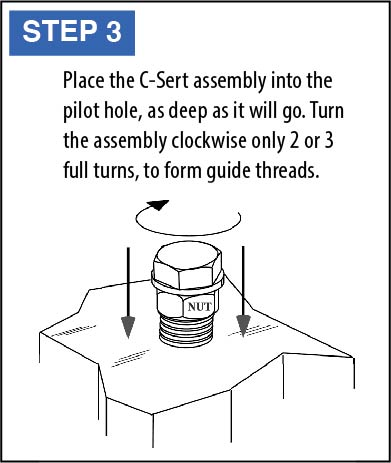 C-Sert Installation Instructions step 3