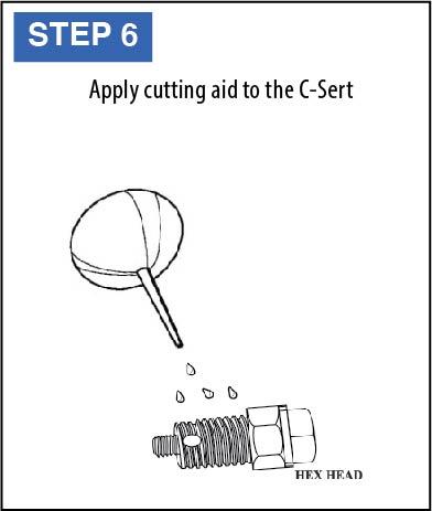 C-Sert Installation Instructions step 6