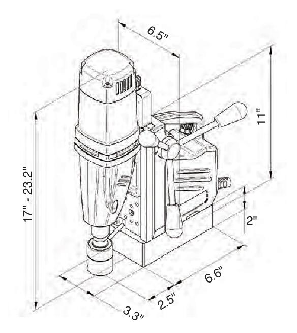 C-Sert MAG DRILL Specifications V3 _C-sert Model M29 drawing