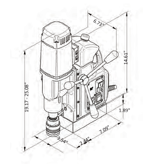 C-Sert MAG DRILL Specifications V3 _C-sert Model MD- 35 drawing